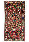 Vintage Tribal Bakhtiari Rug, 5'x10', Red, Hand-Knotted Wool Pile