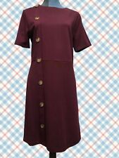 Warehouse Size 14 BRAND NEW Womens Burgandy Button Front Dress