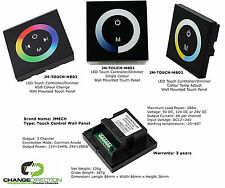 LED Controller: Touch Panel Control - RGB/Single Colour Range - Wall Mounted
