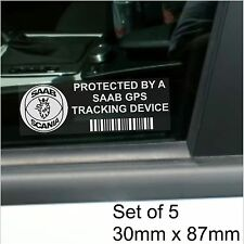 5 X Saab De Rastreo Gps Dispositivo De Seguridad stickers-9-3 9-5 9000-car Alarm Tracker