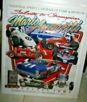 2013 KNOXVILLE POSTER SPRINTCAR HALL OF FAME TRIBUTE MARIO ANDRETTI SALUTE