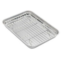Aspire Baking Sheet with Rack Set, Stainless Steel Cookie Sheet and Cooling Rack