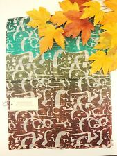 100% Silk Scarf  Wrap fine Art of Handmade Oil painting Alphabet