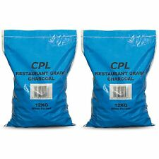 CPL 24kg Restaurant Grade Hardwood Lumpwood Charcoal Garden BBQ Barbecue Grill