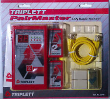TRIPLETT PAIRMASTER 3240 LAN CABLE TEST SET WITH 2 REMOTES