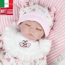CUTE NPKDOLL 17'' BAMBOLA REBORN LIFELIKE REALISTICA BABY DOLL SILICONE HANDMADE