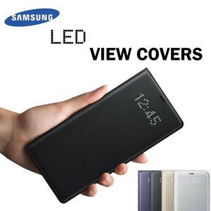 Genuine Samsung LED View Covers for Galaxy S7 S9 S10 S10+ Note 10 Flip Case