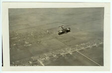 RARE U.S. AIR FORCE AVIATION : USAF Bi-Plane Flying Upside Down Aerial Photo