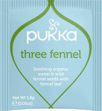 Pukka Herbs Three Fennel Tea 20 Sachet X 6 (pack of 6) & Fresh