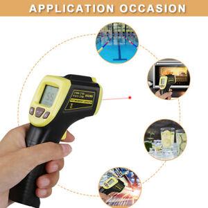 Digital Infrarot Thermometer Pyrometer IR Laser Temperaturmessgerät 12:1 +600℃