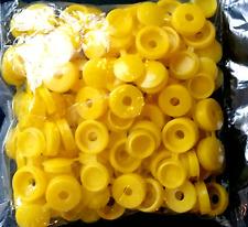 5 x  YELLOW HINGED PLASTIC SCREW COVER CAPS FIT SIZE 6-8 GAUGE SCREWS