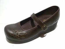 bq. SKECHERS leather TONE-UPS, brown clog style shoes buckle/bar shoes 10