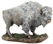 "10.5"" Inch White Buffalo Wild Life Animal Statue American Native Bison Indian"