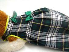 creation toutou robe ecossaise dos 35/40cm