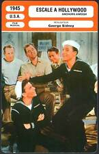 ESCALE A HOLLYWOOD - Sinatra,Kelly,Sidney (Fiche Cinéma) 1945 - Anchors Aweigh
