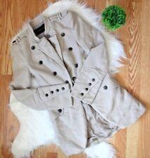 Zara Woman Tan Military Style Jacket XS EUC
