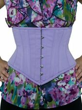 "New! 201 Authentic Lilac Cotton 36"" Steel Boned Underbust Waspie Corset"