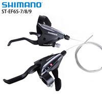 Shimano ST-EF65 3/7/8/9/21/24/27 Speed Brake Shifter Sets V-Brake Fit EF51 Black