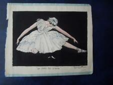 Raymond Sutherland   The Dying Swan  Ballet Scene  Watercolour .  7 x 8.5 inch