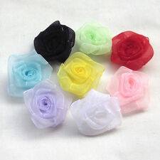 Upick Organza Flowers Rose Appliques Crafts Wedding Sewing Decorations