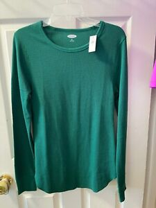 NWT Old Navy Green Thermal Activewear  Top, Long Sleeve, Sz Large Tall