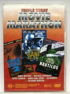 Crash Dive 2 / Gang Related / Nautilus - 3 movies 1 DVD - AusPost with Tracking