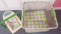 Vintage 1983 Coleco CPK Cabbage Patch Kids Doll Play Pen Carrier LOCAL PICKUP