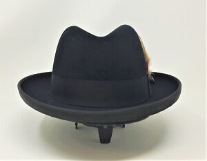 STETSON ROYAL DELUXE FUR FELT HOMBURG HAT