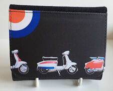 Mens Scooter Wallet, Mod Target Scooter Wallet, Vintage Classic Scooter wallet