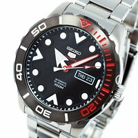 SEIKO 5 SRPA07J1 Automatic 24 Jewels Black Dial Stainless Steel Men Watch JAPAN
