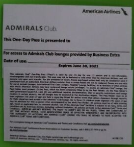2x American Airlines Admirals Club Lounge Passes Expiration 6-30-21
