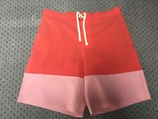 Brand New Men's H&M Red Block Colour Swim Shorts Size XL
