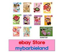 Re-ment Full Set of 10 PLUS SECRET I LOVE KYOTO BARBIE MINIATURE JAPANESE FOOD