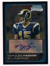 2006 Bowman Chrome Rookie Auto Marques Hagans St. Louis Rams