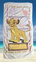 Vintage Disney The Lion King Simba Beach Towel 90's Animals Jungle By Franco