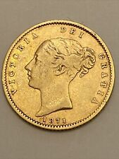 More details for 1871 queen victoria young head half sovereign