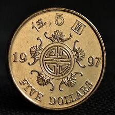 Hong Kong 5 Dollars 1997 coin UNC 5 Yuan - Retrocession to China km77
