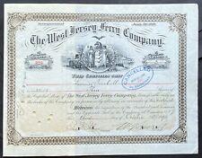 WEST JERSEY FERRY CO Stock 1893 Camden NJ - Philadelphia Inc 1849 Delaware River