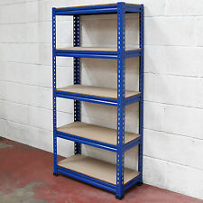 5 Tier Blue Heavy Duty Boltless Metal Storage Shelves/Warehouse Racking 1.5M