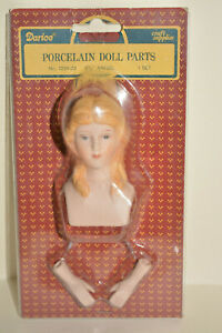"""Darice Porcelain Doll Parts Angel Head Hands 2.75"""" Craft No 1224-22 for 12"""" Doll"""