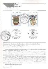 ITALIA 1995 CIBI ITALIANI  BOLLETTINO COMPLETO DI FRANCOBOLLI FDC