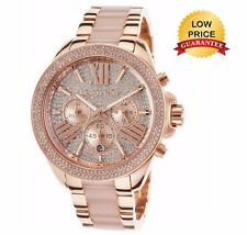 NEW GENUINE MICHAEL KORS MK6096 WREN CRYSTAL ROSE GOLD LADIES WATCH UK GIFT