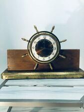 Vintage Salem Electric Ship Wheel Clock. Hartfort Clock