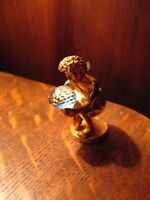 WAPW Aquarius Figure - Vintage Miniature Astrology Horoscope Gold Statue England