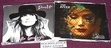 2 X DELTA GOODREM CD SINGLES - DEAR LIFE & THE RIVER  (BRAND NEW)