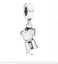 Pandora,Coffee Pot Espresso Can Dangle Charm 925 Silver