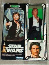 "Vintage Star Wars 1979 Kenner AFA 80 HAN SOLO 12"" inch doll MISB SEALED Box!"