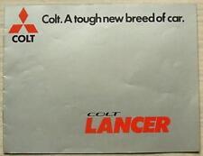 MITSUBISHI COLT LANCER Car Sales Brochure 1976