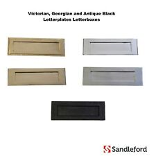 Heritage Letter Plate / Letter Box - Various Sizes & Finishes Brass Black Chrome