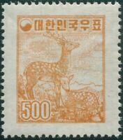 Korea South 1955 SG251 500h yellow-brown Sika Deer MNH